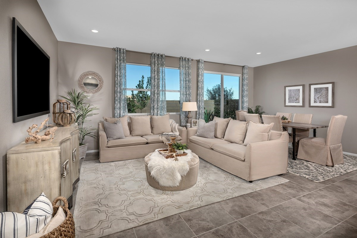 New Homes in Las Vegas, NV - Autumn Winds Plan 1673 Interior Unit Greatroom