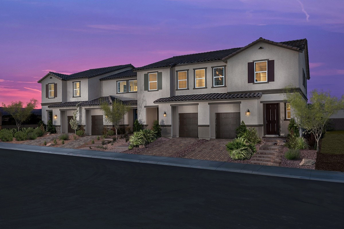 New Homes in Las Vegas, NV - Autumn Winds Streetscape