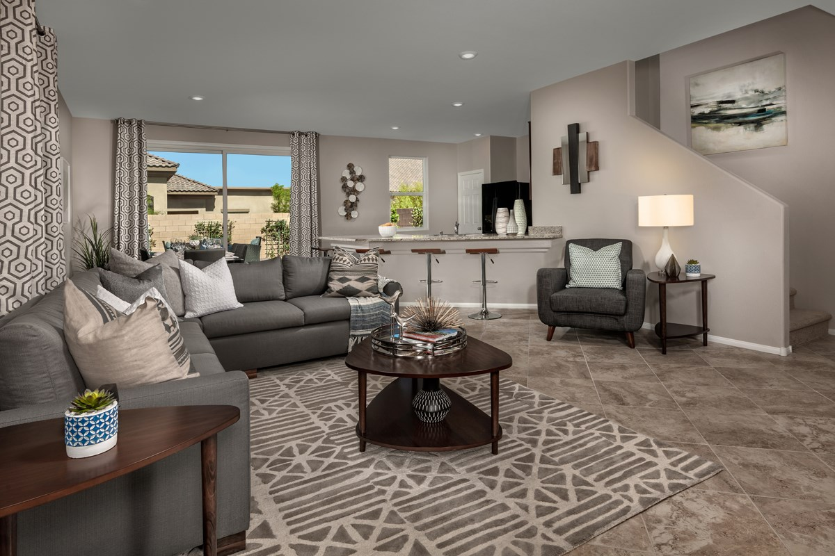 New Homes in Las Vegas, NV - Bellazo Plan 2115 Great Room
