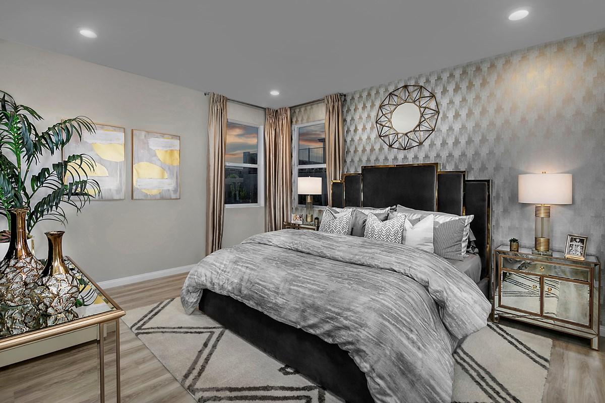 New Homes in Las Vegas, NV - Bristle Vale at Summerlin - Collection I Plan 2114 Master Bedroom