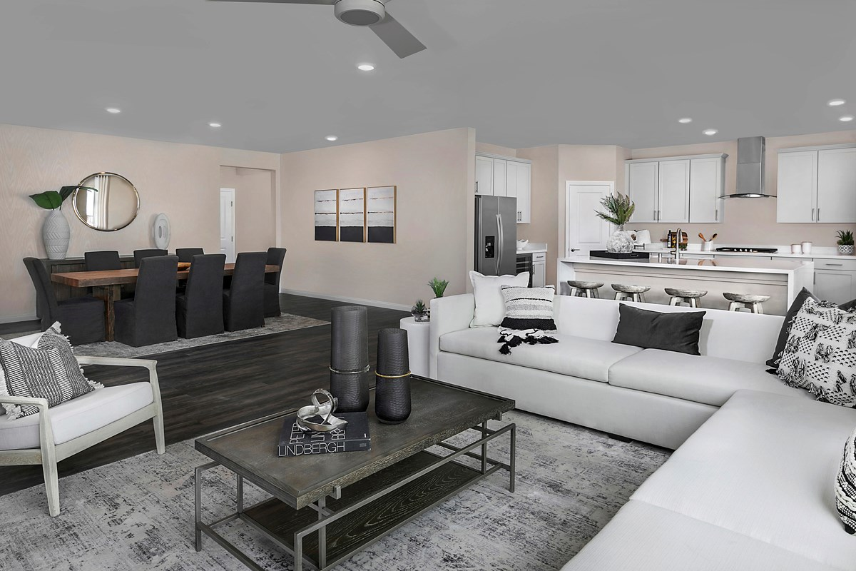 New Homes in Las Vegas, NV - Bristle Vale at Summerlin - Collection II Plan 3063 Great Room