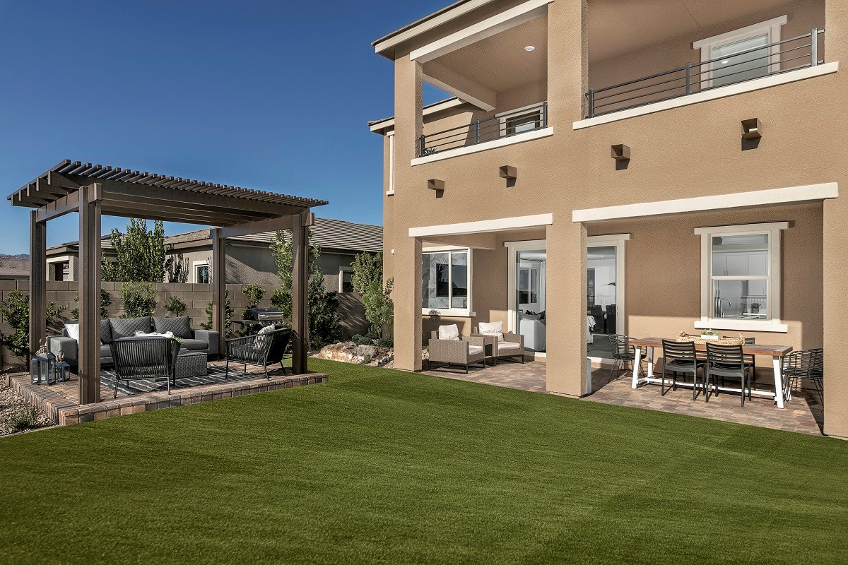 New Homes in Las Vegas, NV - Bristle Vale at Summerlin - Collection II Plan 3063 Backyard