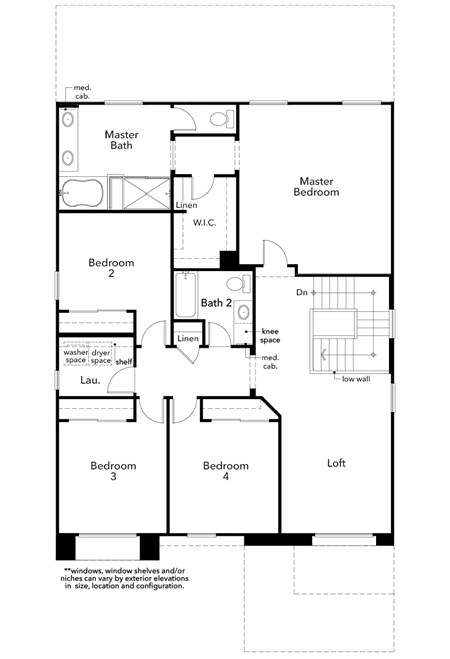 New Homes in Las Vegas, NV - Plan 2683, Second Floor