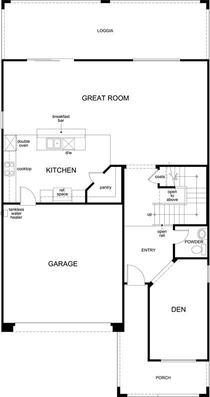 New Homes in Las Vegas, NV - Plan 2683, First Floor