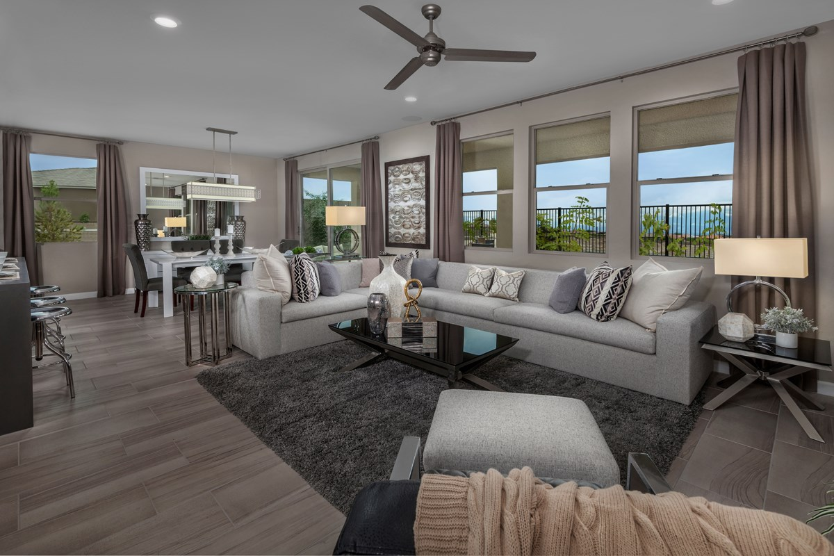 New Homes in Las Vegas, NV - Caledonia at Summerlin - Collection I Plan 1896 Great Room