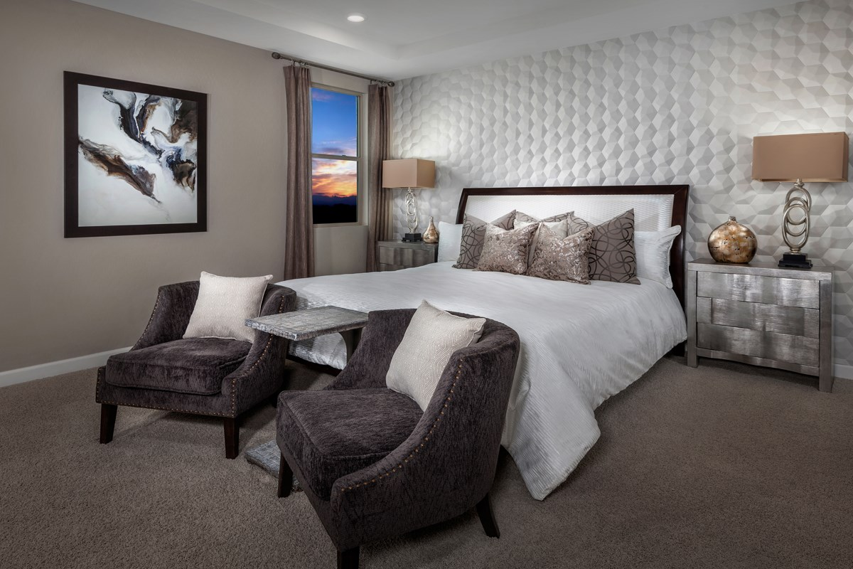 New Homes in Las Vegas, NV - Caledonia at Summerlin - Collection I Plan 1896 Master Bedroom