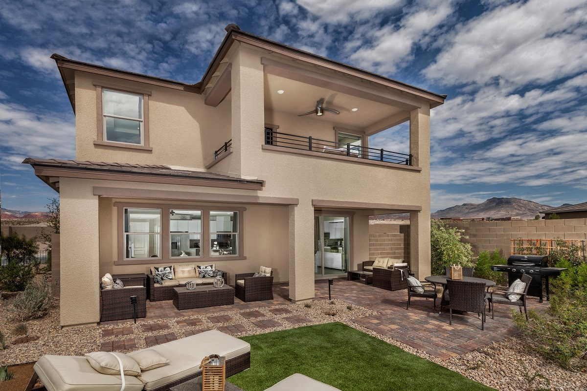 New Homes in Las Vegas, NV - Caledonia at Summerlin - Collection I Plan 1896 Backyard