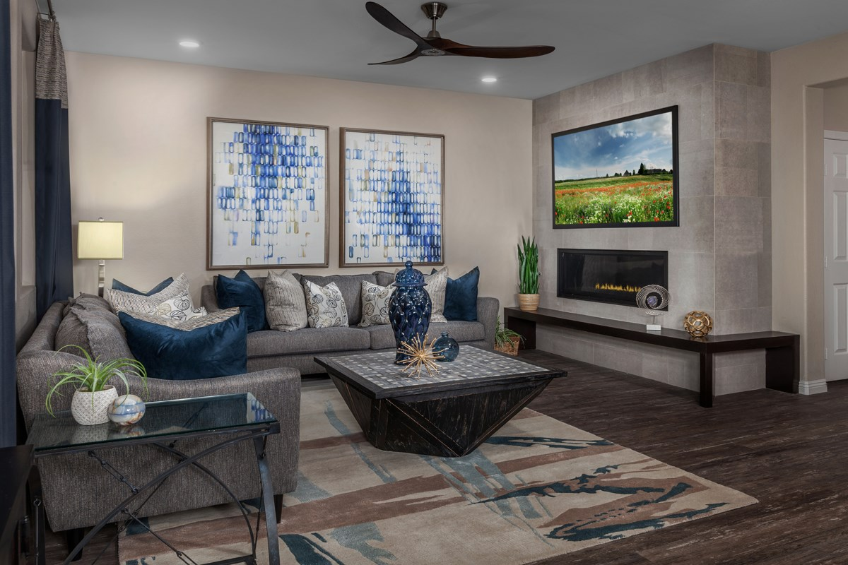 New Homes in Las Vegas, NV - Caledonia at Summerlin - Collection I Plan 2373 Great Room