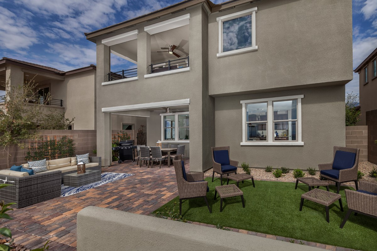 New Homes in Las Vegas, NV - Caledonia at Summerlin - Collection I Plan 2373 Backyard
