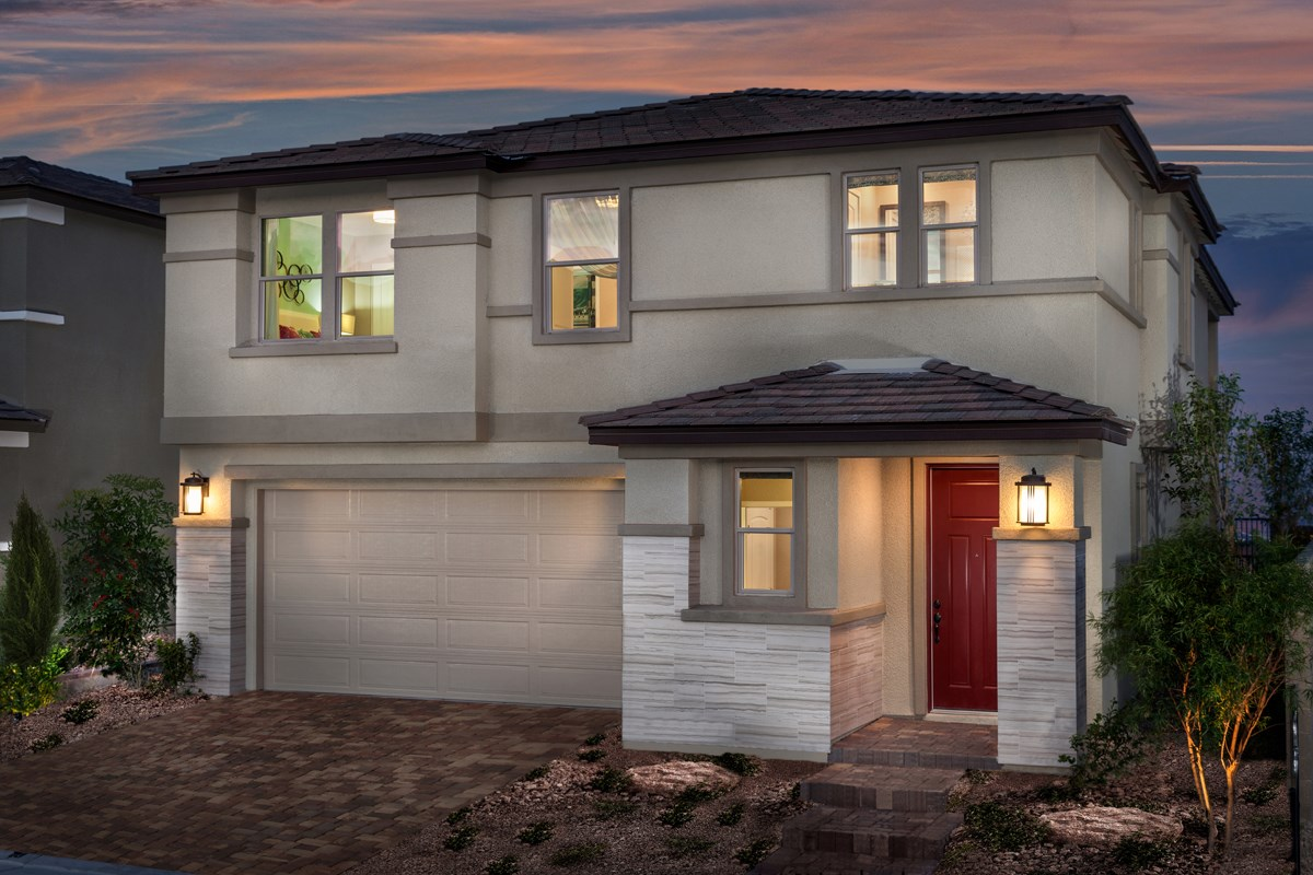 New Homes in Las Vegas, NV - Caledonia at Summerlin - Collection I Plan 2620 Modeled