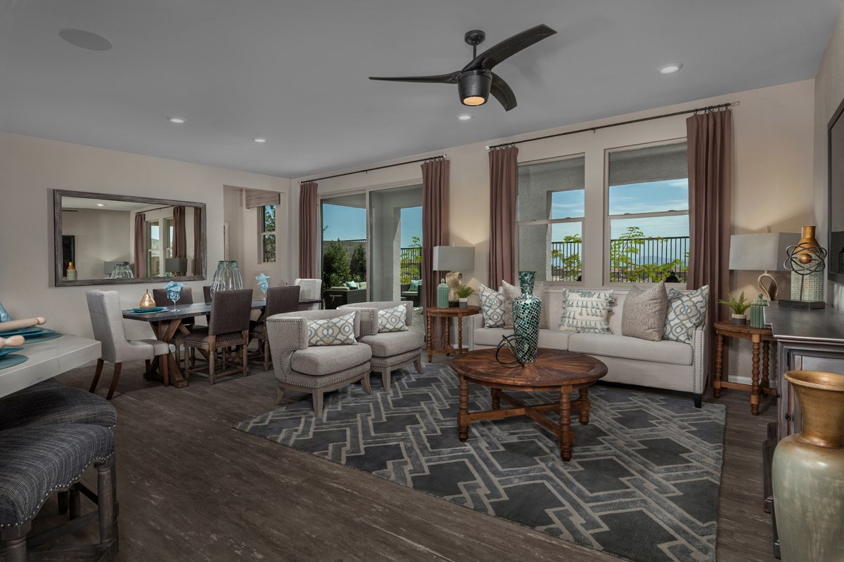 New Homes in Las Vegas, NV - Caledonia at Summerlin - Collection I Plan 2620 Great Room