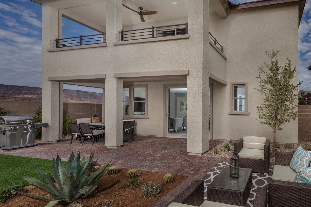 New Homes in Las Vegas, NV - Caledonia at Summerlin - Collection I Plan 2620 Backyard