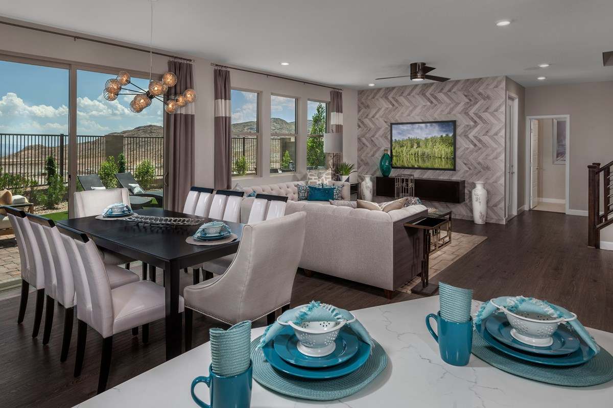 New Homes in Las Vegas, NV - Caledonia at Summerlin – Collection II Plan 3095 Great Room