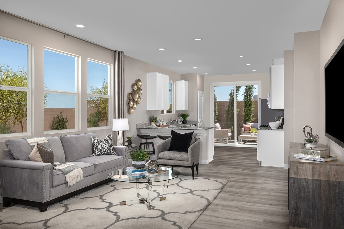 New Homes in Las Vegas, NV - Cumberland Ranch Plan 1157 Great Room