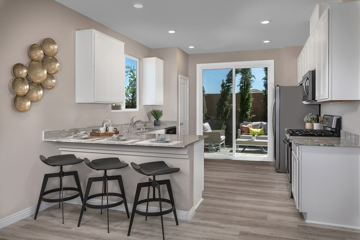 New Homes in Las Vegas, NV - Cumberland Ranch Plan 1157 Kitchen