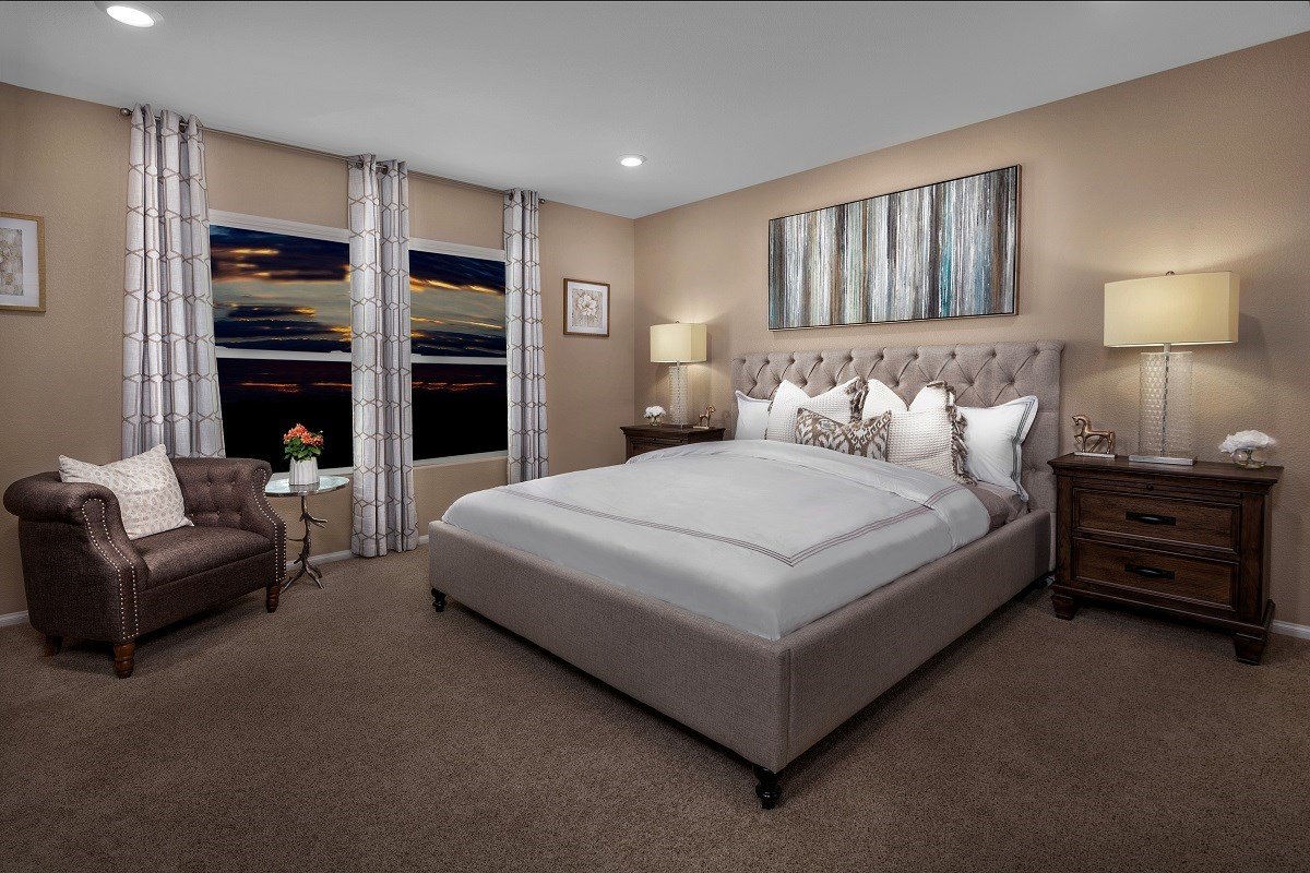 New Homes in North Las Vegas, NV - Desert Mesa Plan 1775 Master Bedroom