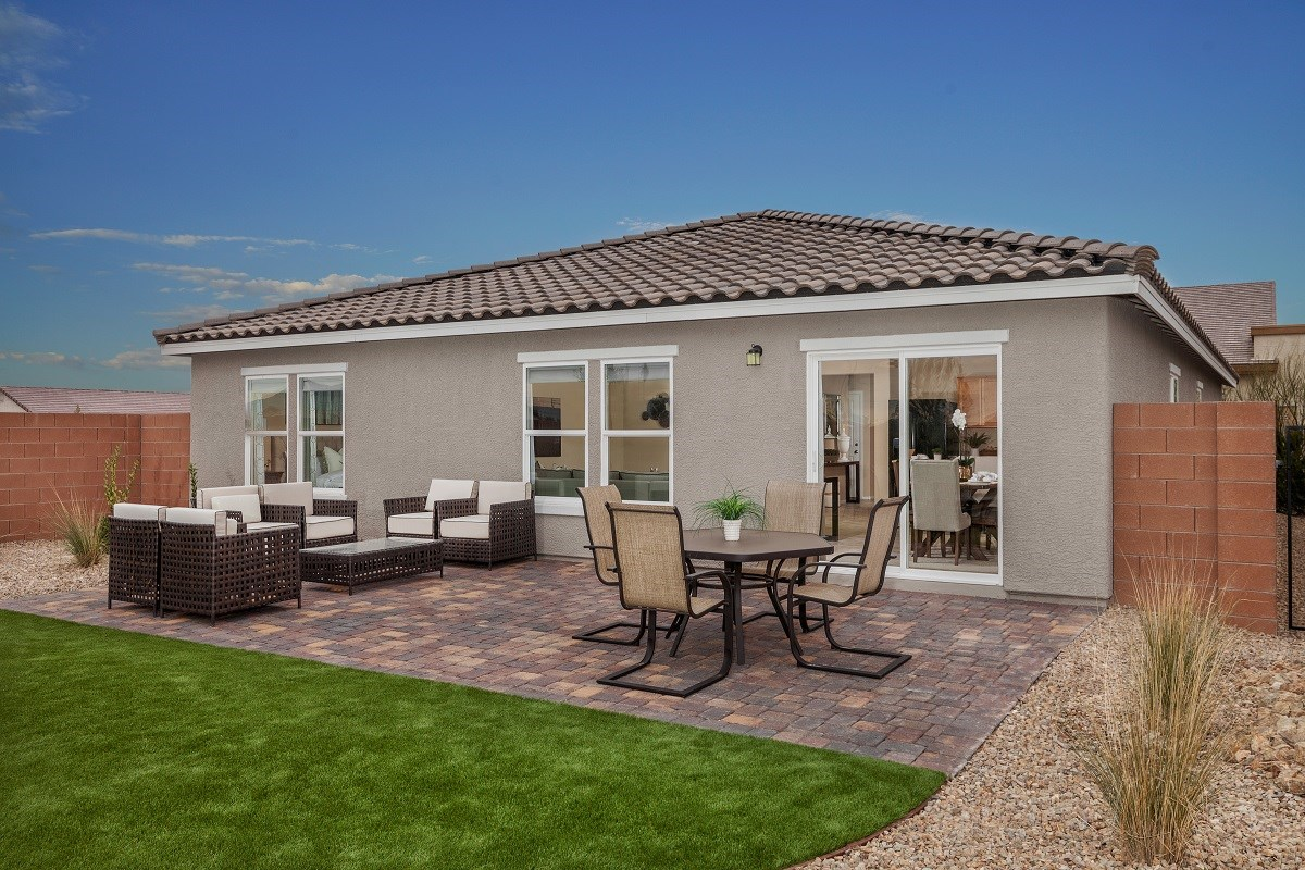 New Homes in North Las Vegas, NV - Desert Mesa Plan 1775 Backyard