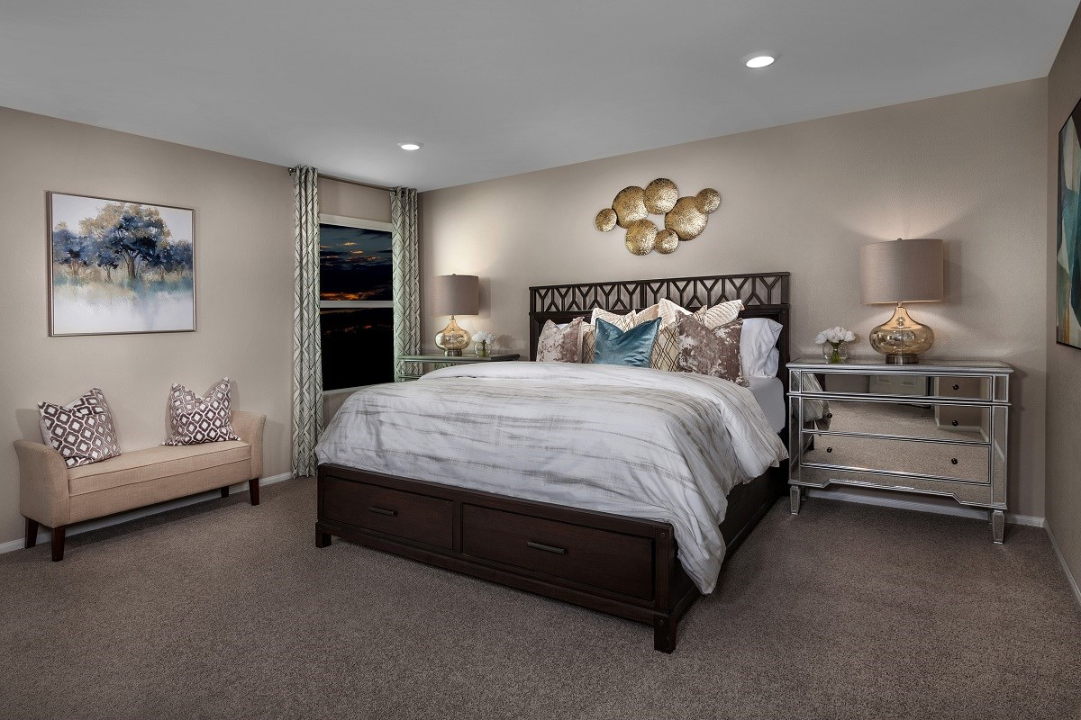 New Homes in North Las Vegas, NV - Desert Mesa Plan 2339 Master Bedroom