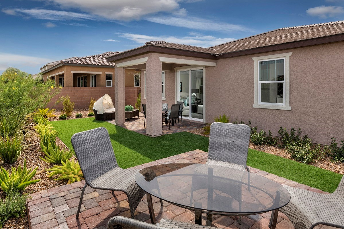 New Homes in Henderson, NV - Enclaves at Inspirada Plan 2170 Backyard