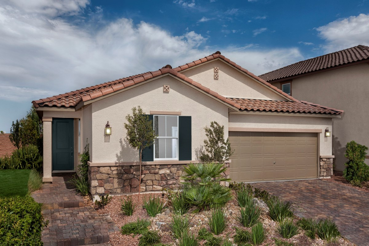 New Homes in Henderson, NV - Enclaves at Inspirada Plan 2401 as modeled at San Severo Plan 2370