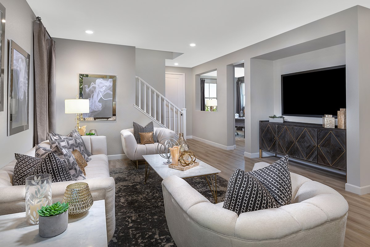 New Homes in North Las Vegas, NV - Gardens at Saddlebrook  Plan 2041 Great Room