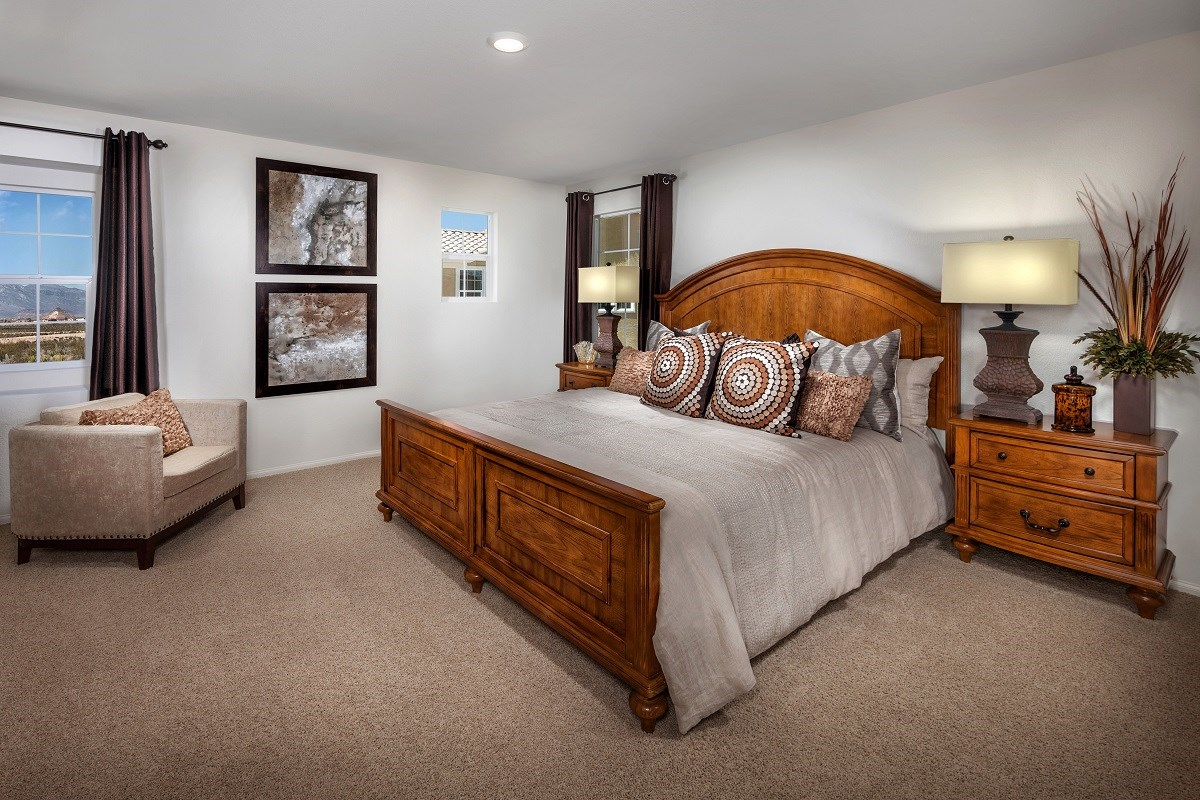 New Homes in Henderson, NV - Greencourts at Inspirada Plan 1812 Master Bedroom