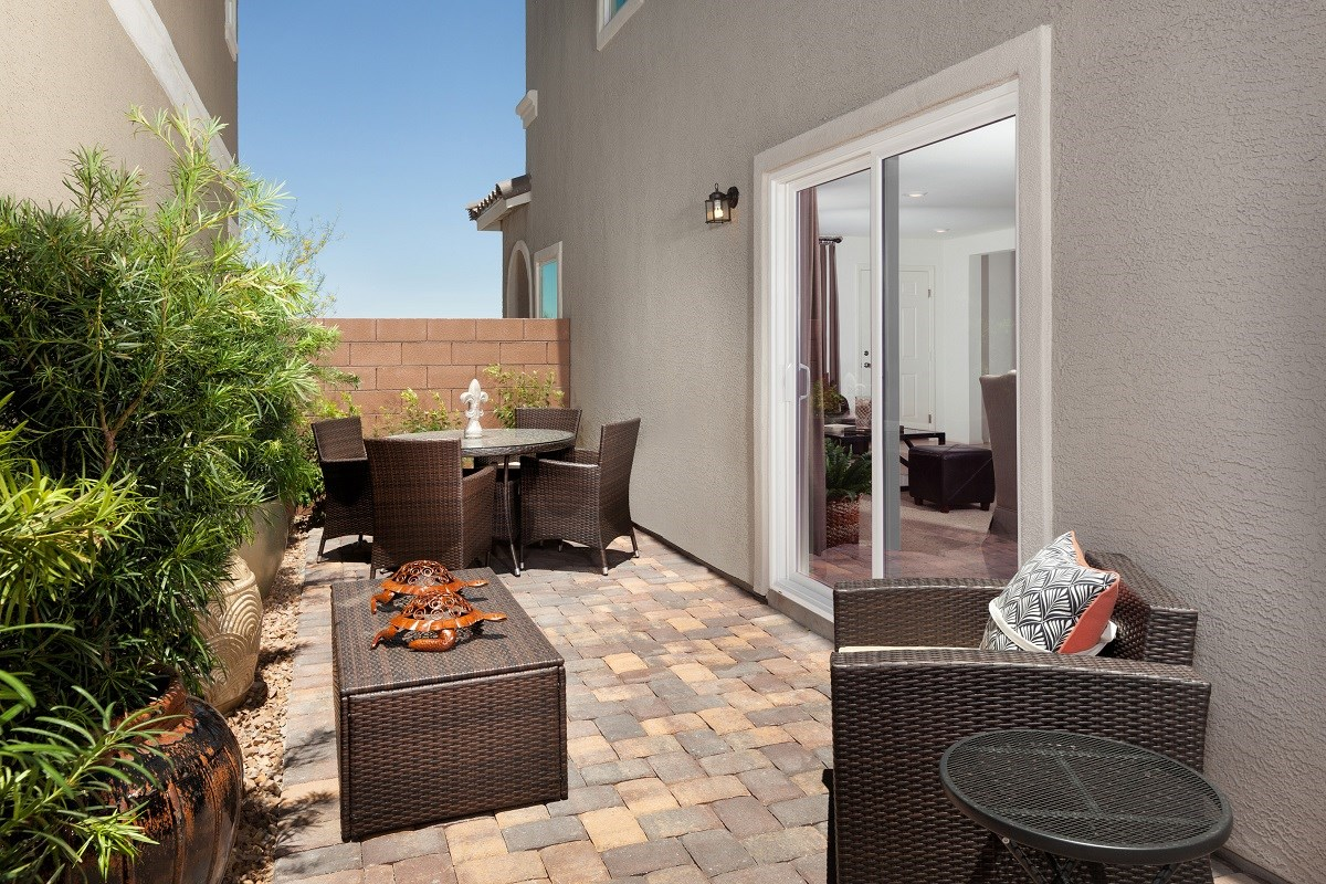 New Homes in Henderson, NV - Greencourts at Inspirada Plan 1812 Backyard