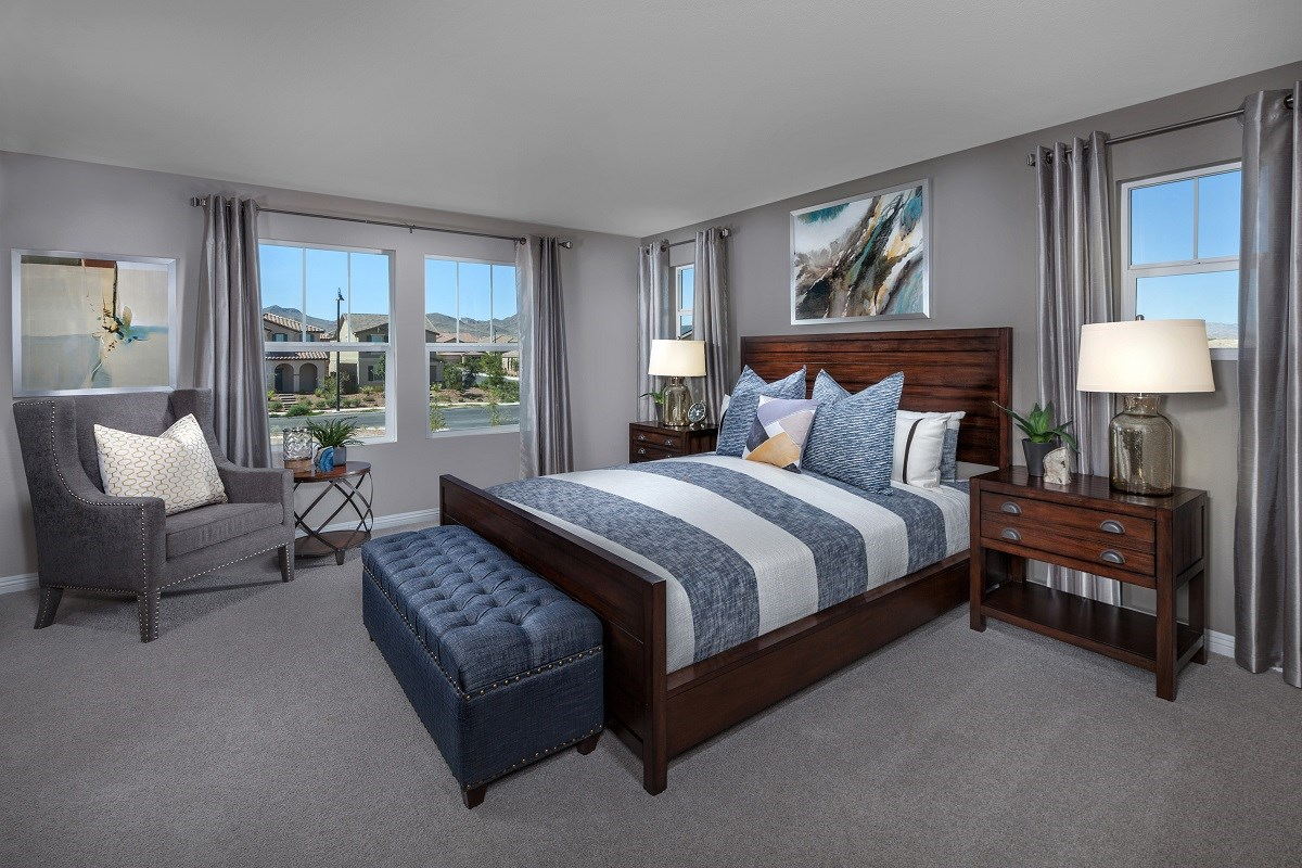 New Homes in Henderson, NV - Greencourts at Inspirada Plan 2041 Master Bedroom