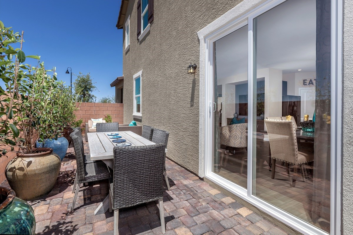 New Homes in Henderson, NV - Greencourts at Inspirada Plan 2041 Backyard