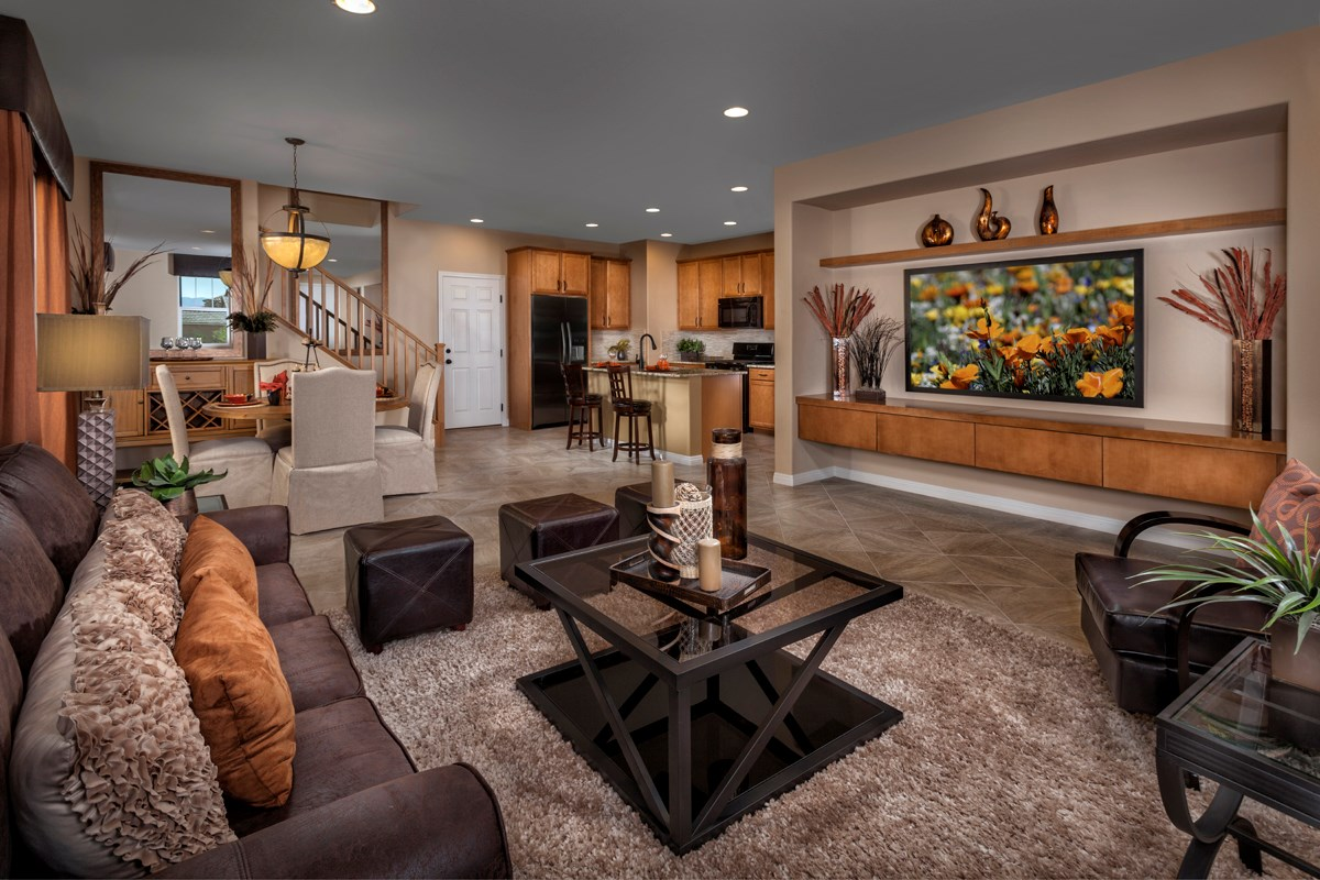 New Homes in Henderson, NV - Greencourts at Inspirada Plan 1812 Great Room