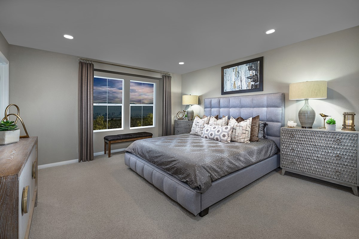 New Homes in Henderson, NV - Groves at Inspirada Plan 1598 Master Bedroom