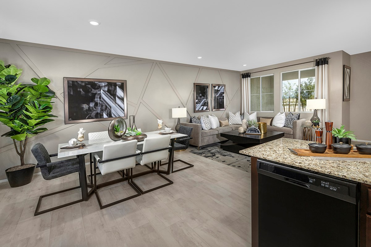 New Homes in North Las Vegas, NV - Groves at Saddlebrook Plan 1366 Greatroom