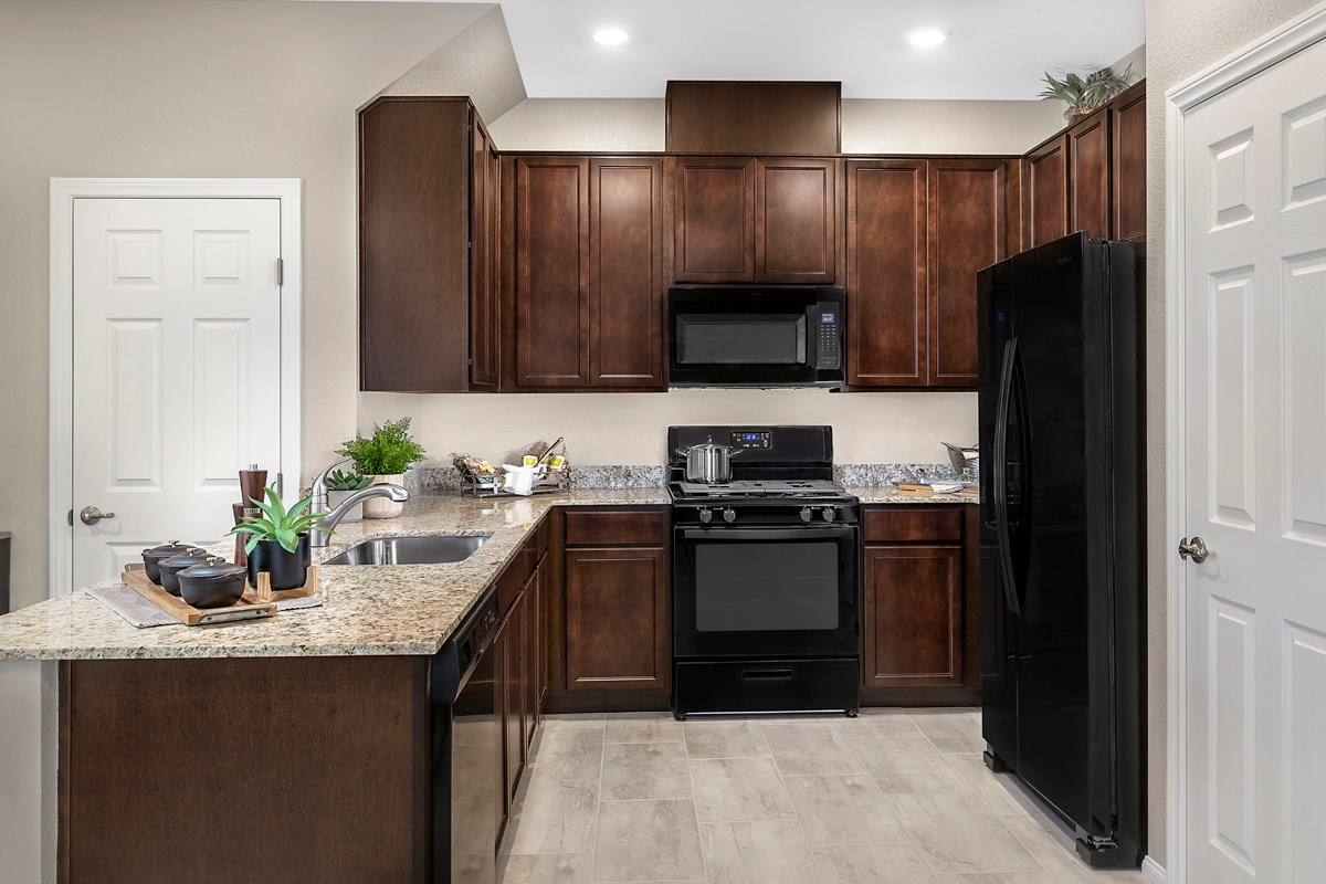 New Homes in North Las Vegas, NV - Groves at Saddlebrook Plan 1366 Kitchen