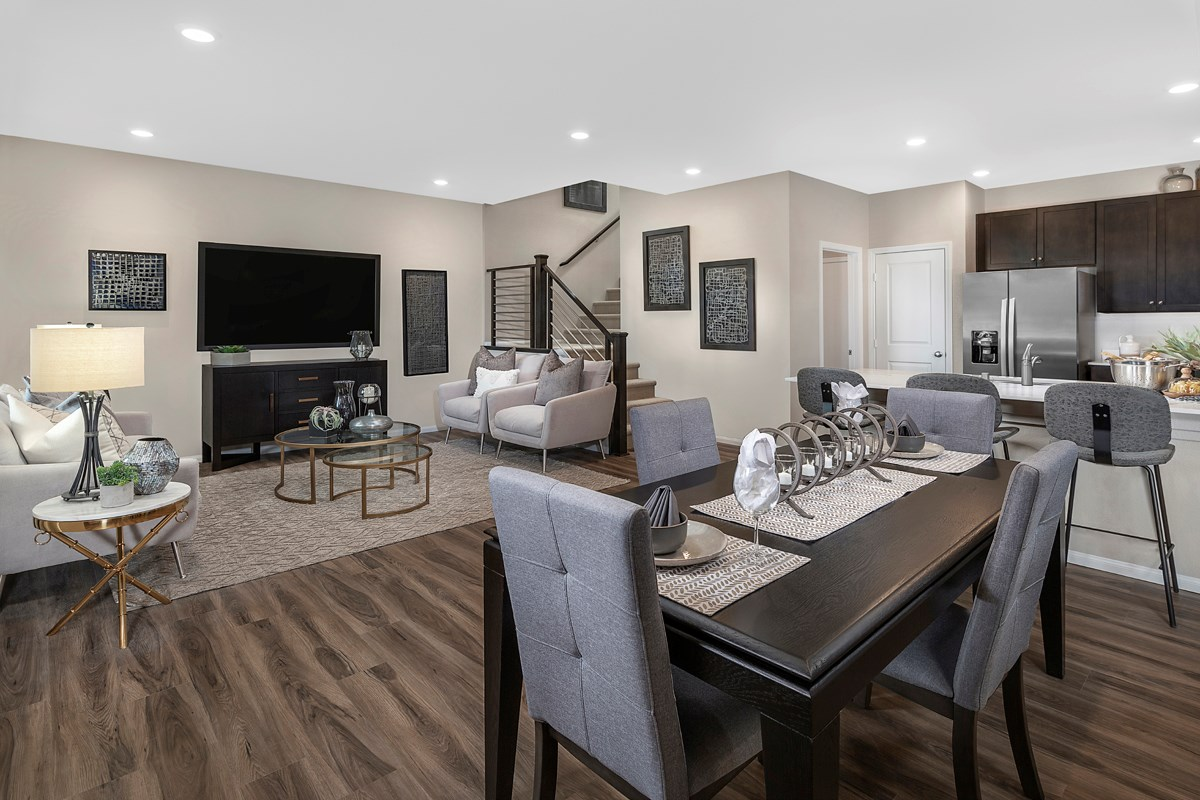 New Homes in North Las Vegas, NV - Groves at Saddlebrook Plan 1453 Great Room