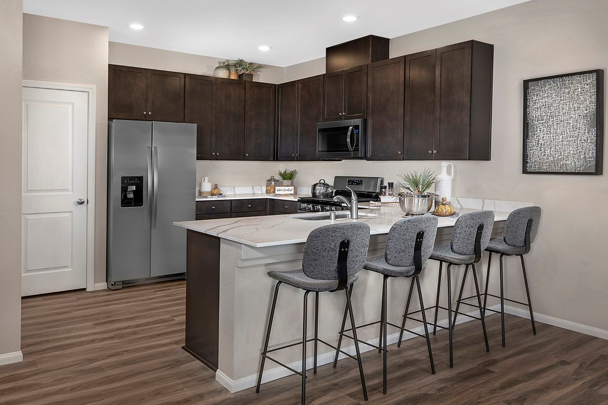 New Homes in North Las Vegas, NV - Groves at Saddlebrook Plan 1453 Kitchen