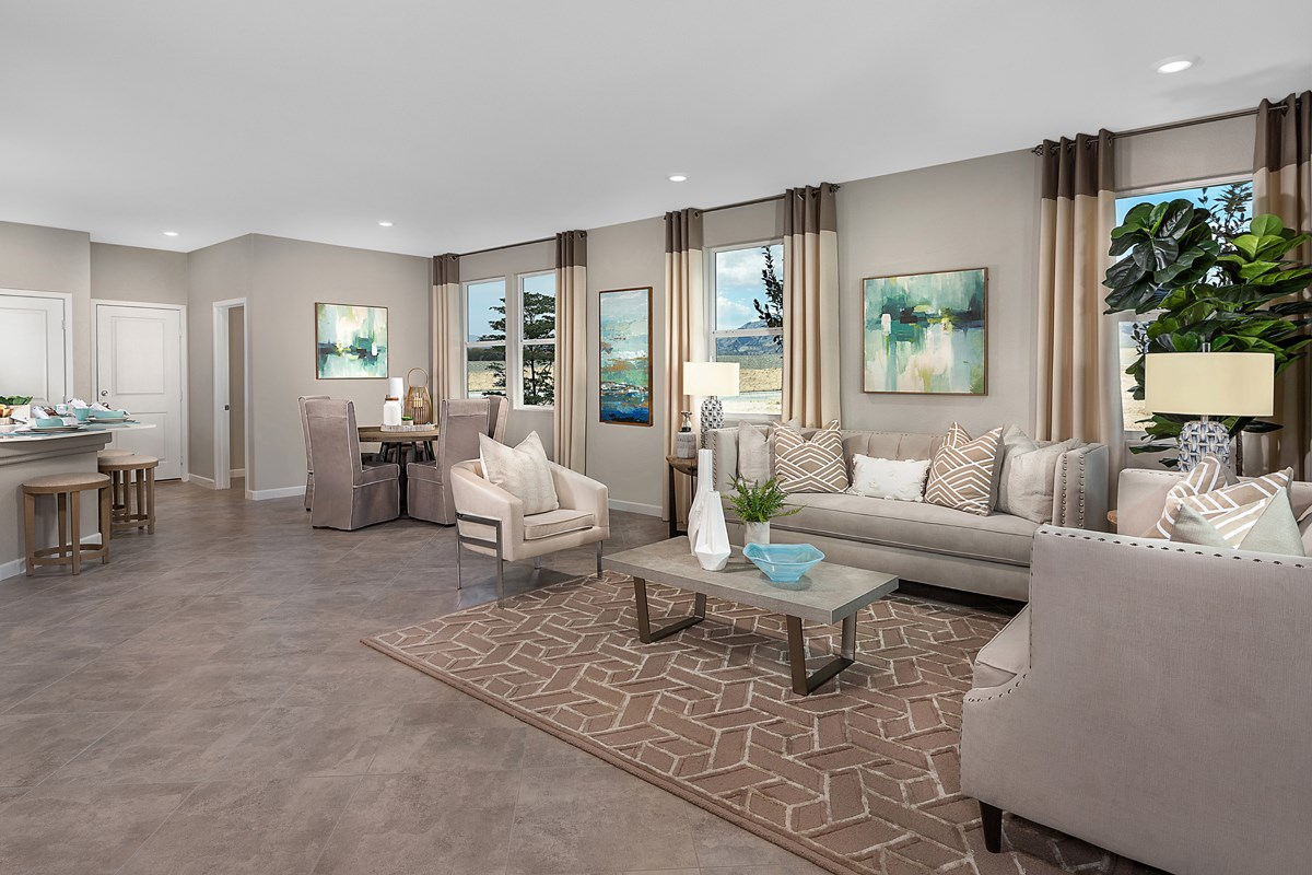 New Homes in North Las Vegas, NV - Groves at Saddlebrook Plan 1736 Great Room