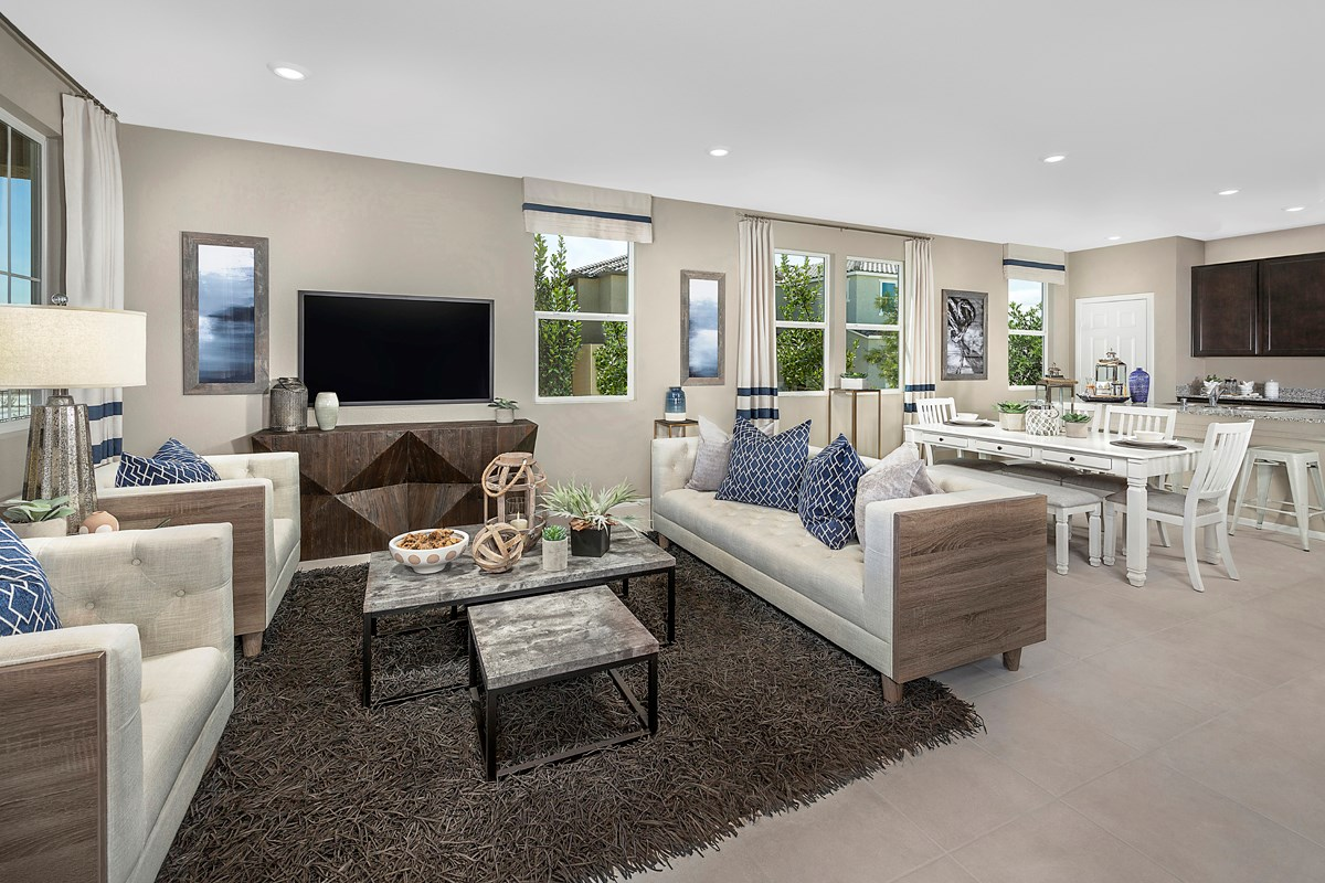 New Homes in North Las Vegas, NV - Groves at Saddlebrook Plan 1860 Great Room