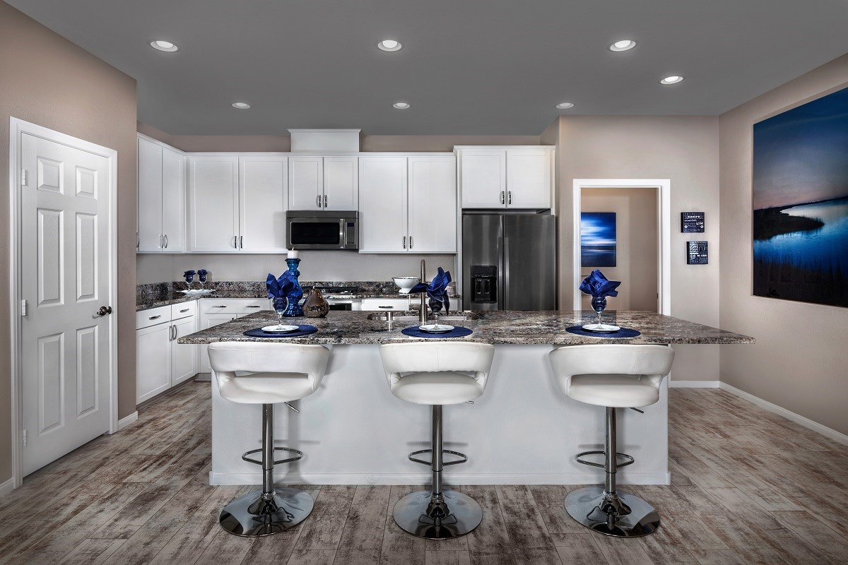 New Homes in Las Vegas, NV - Jade Meadows Plan 1849 Kitchen as modeled at Reserves at Inspirada