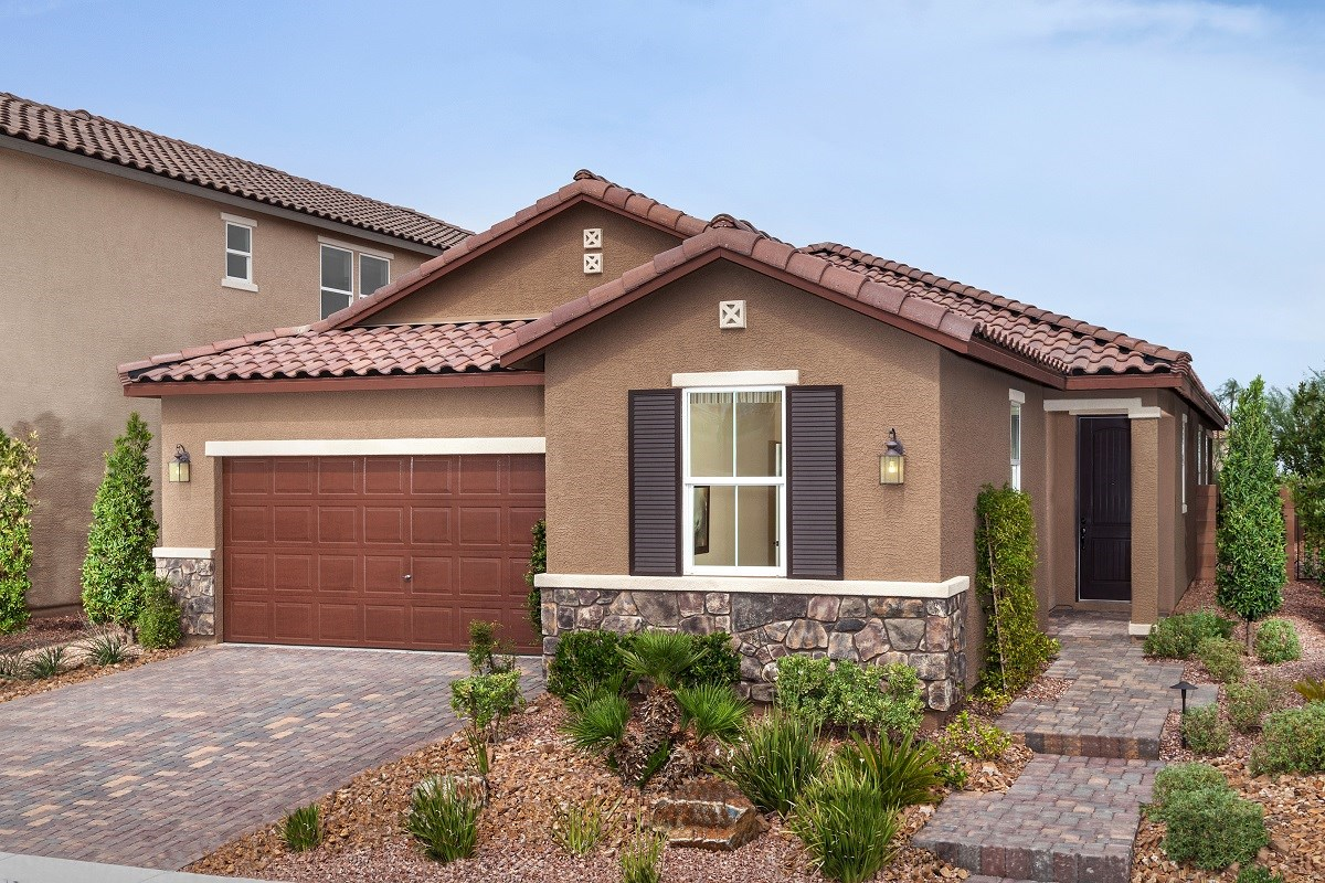 New Homes in Las Vegas, NV - Jade Meadows Plan 1849 as modeled at San Severo