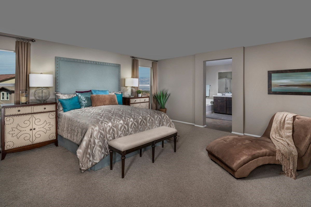 New Homes in Las Vegas, NV - Jade Meadows Plan 2335 Master Bedroom as modeled at Denali