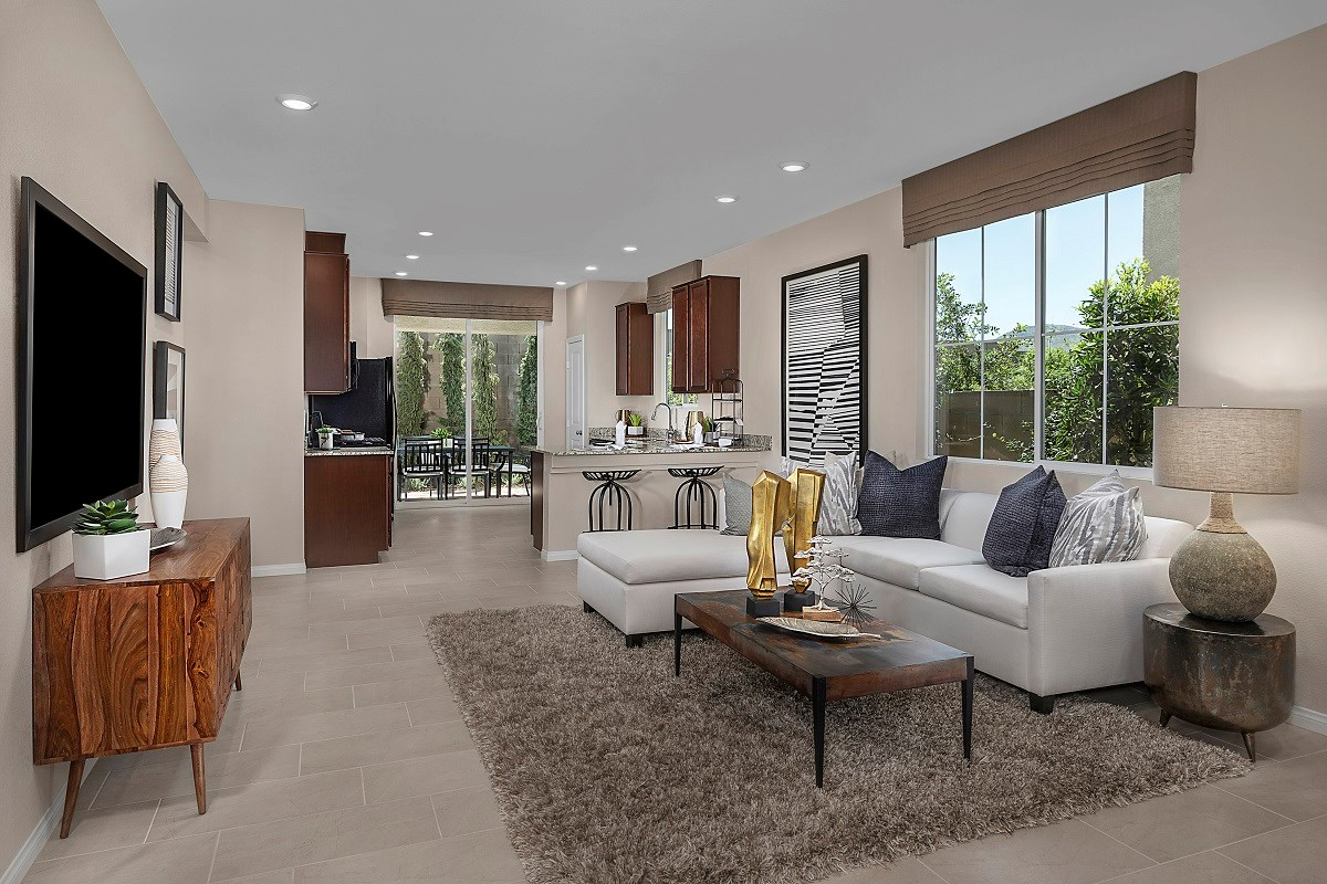 New Homes in Henderson, NV - Landings at Inspirada Plan 1150 Great Room