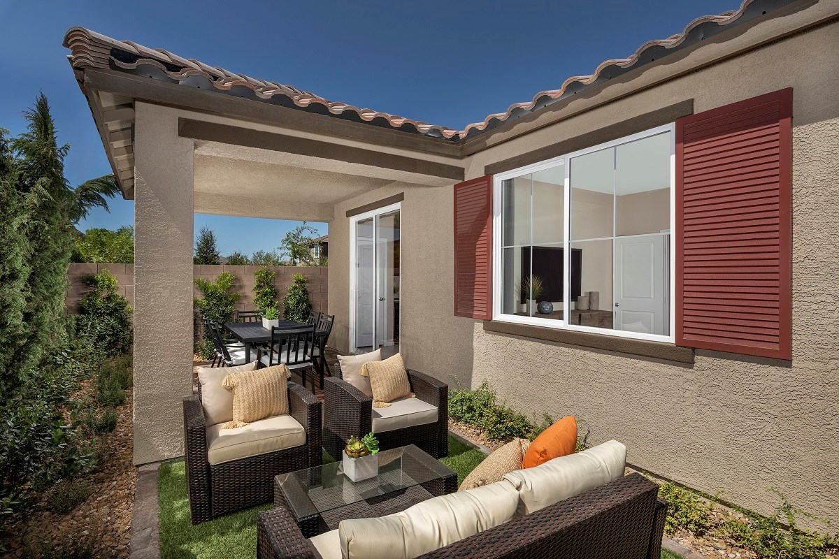 New Homes in Henderson, NV - Landings at Inspirada Plan 1150 Backyard
