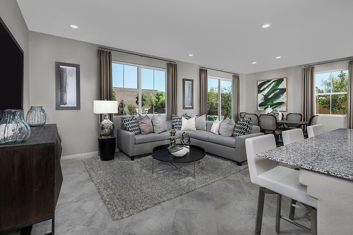 New Homes in Henderson, NV - Landings at Inspirada Plan 1768 Great Room