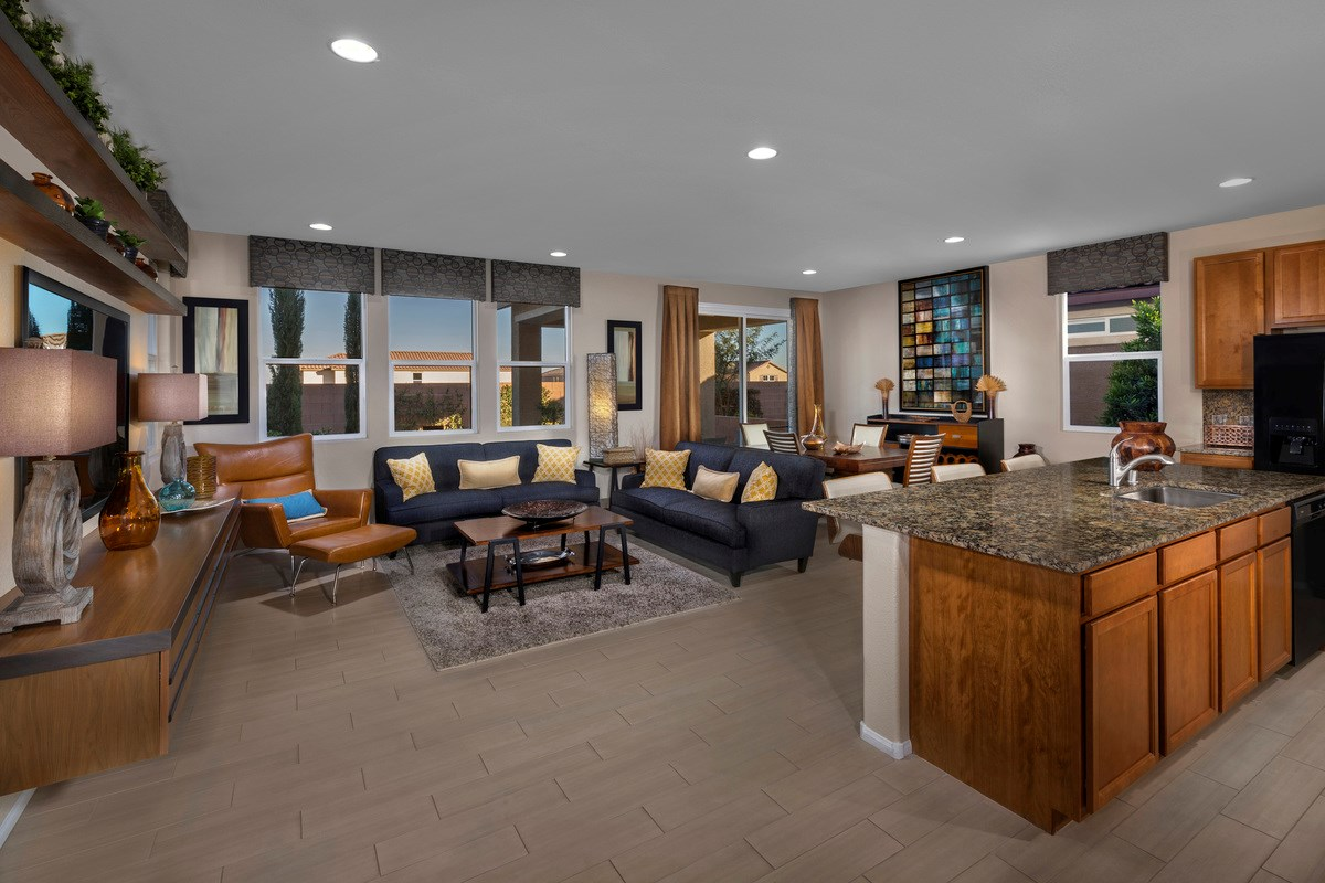 New Homes in Las Vegas, NV - Landings at San Severo Plan 2469 Great Room