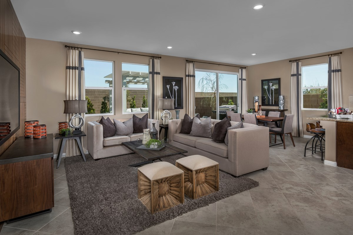 New Homes in North Las Vegas, NV - Landings at Tanglewood Plan 1657 Great Room