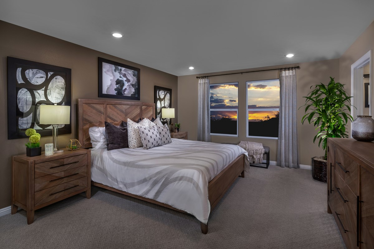 New Homes in North Las Vegas, NV - Landings at Tanglewood Plan 1657 Master Bedroom