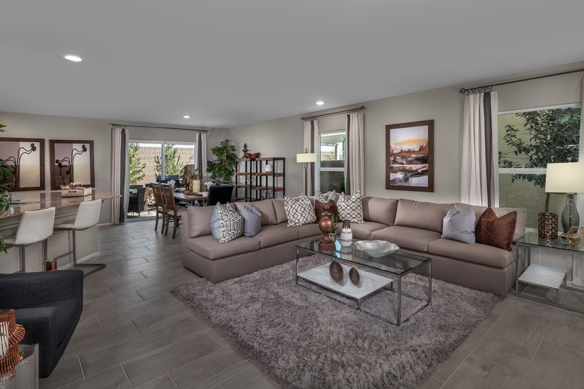 New Homes in North Las Vegas, NV - Landings at Tanglewood Plan 2115 Great Room
