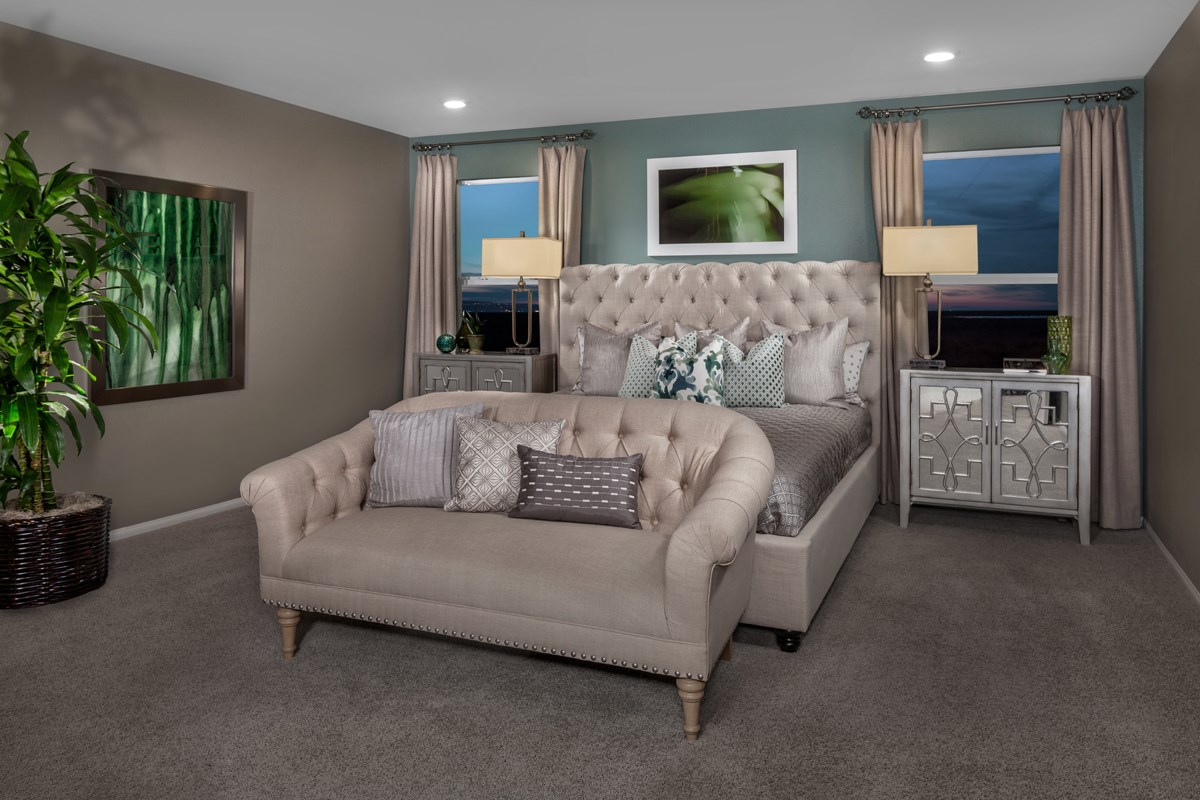 New Homes in North Las Vegas, NV - Landings at Tanglewood Plan 2469 Master Bedroom