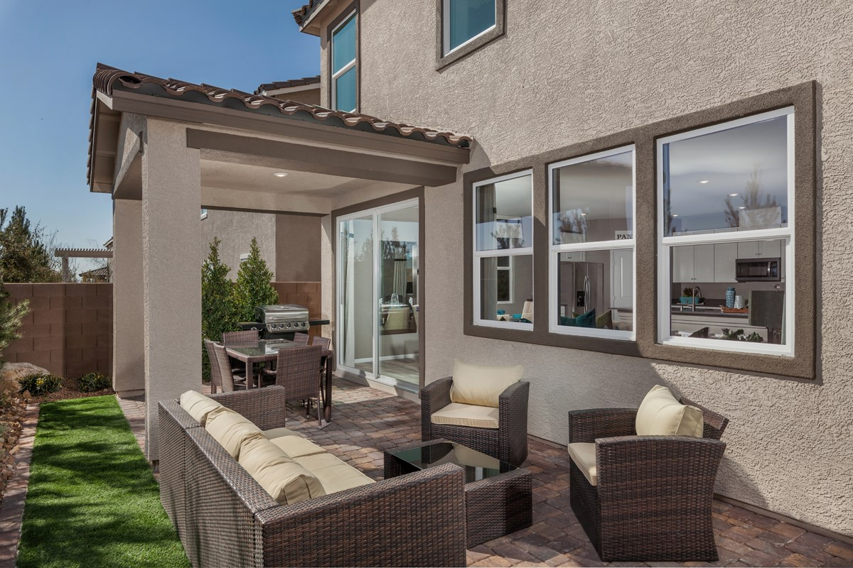 New Homes in North Las Vegas, NV - Landings at Tanglewood Plan 2469 Backyard