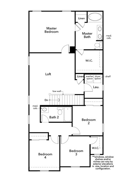 New Homes in Las Vegas, NV - Plan 2062, Second Floor